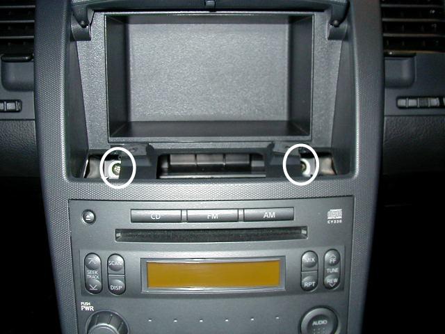 2006 nissan 350z stereo removal