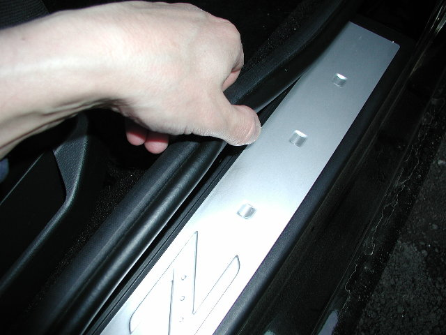 Glove box door remove